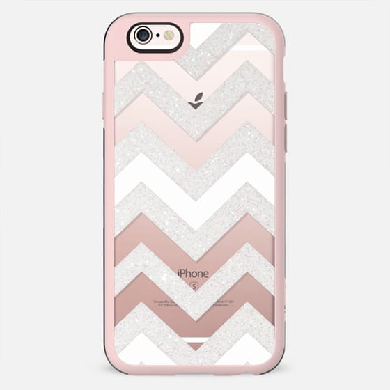 SILVER CHEVRON WHITE iPhone6 Transparent Case - New Standard Case