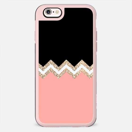 TWINS Coral & Black by Monika Strigel iPhone 6