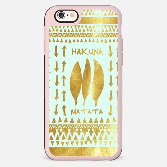 HAKUNA MATATA MINT GOLD  Galaxy S5 by Monika Strigel - New Standard Case