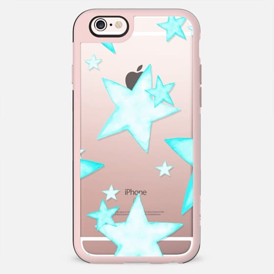 MINT STARS iPhone 5 Charcoal Transparent