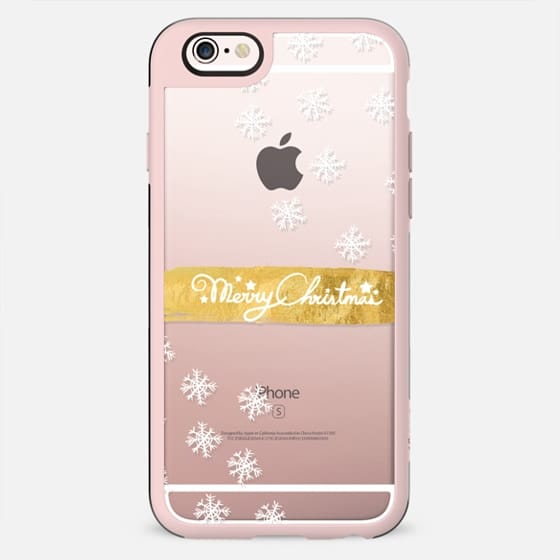 MERRY X-MAS Snowflake by Monika Strigel - New Standard Case