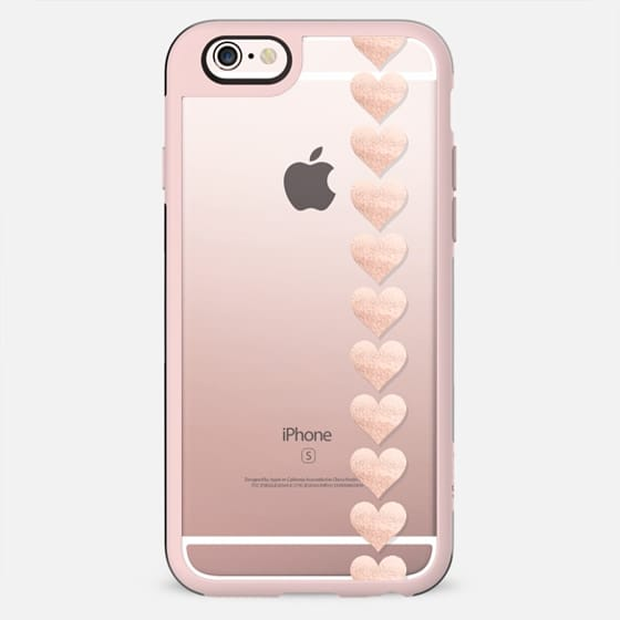 ROSÈ HEARTS Transparent iPhone 6 by Monika Strigel - New Standard Case