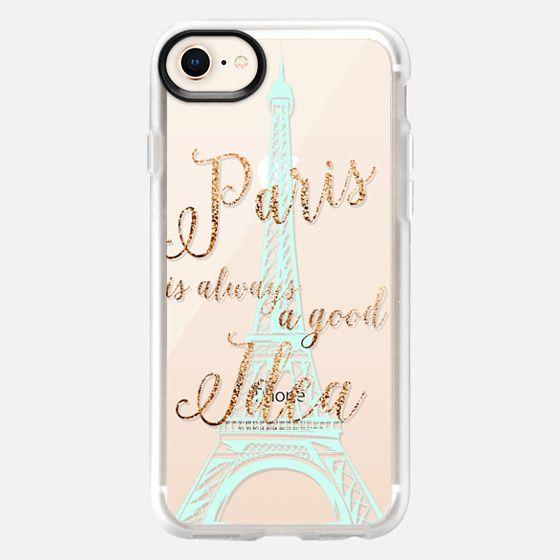 I LOVE PARIS transparent faux gold  for HTC One M8 by Monika Strigel - Snap Case