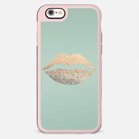GOLD LIPS SEAFOAM by Monika Strigel - New Standard Case