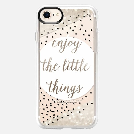 ENJoY THE LITTLE THINGS for iPhone 5s METALUX by Monika Strigel - Snap Case