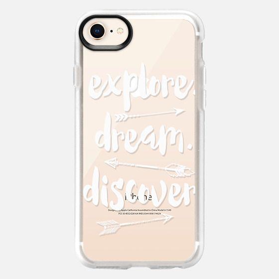 EXPLORE WHITE by MONIKA STRIGEL - Snap Case