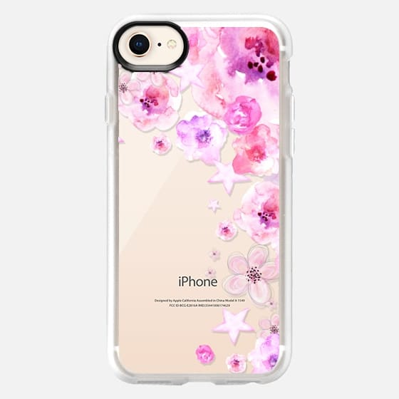 PINK FLOWERS & STARS - Breast Cancer Awereness by Monika Strigel - Snap Case
