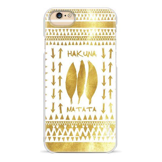 iPhone 6s Cases - HAKUNA MATATA GOLD & WHITE by Monika Strigel