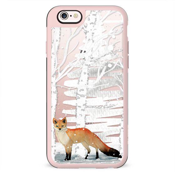 WINTER FOX on Wood by Monika Strigel
