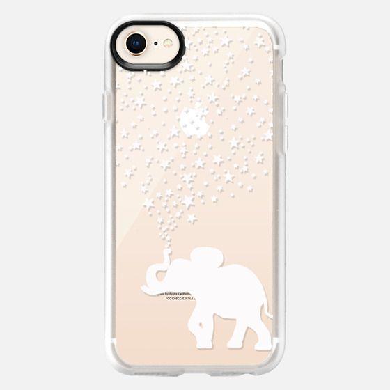 HAPPY ELEPHANT WHITE by Monika Strigel - Snap Case