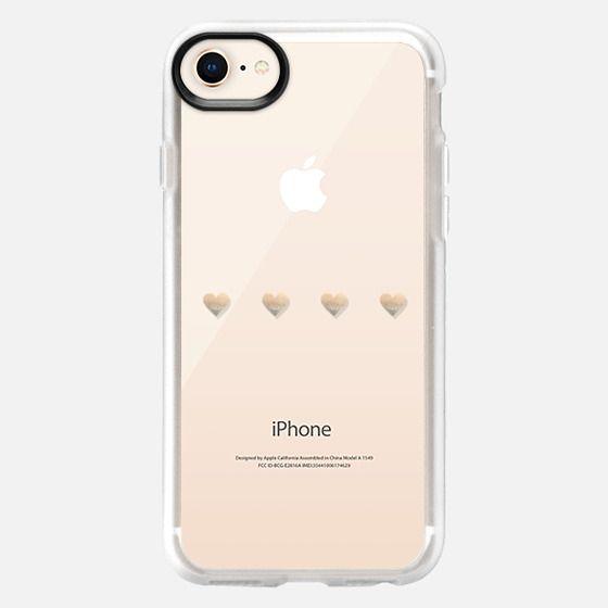 LITTLE GOLD HEARTS Samsung Galaxy S4 transparent case - Snap Case