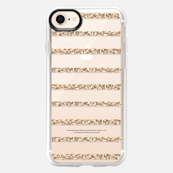 GOLD STRIPES transparent case for Samsung Galaxy S4 - Snap Case