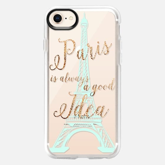 I LOVE PARIS iPhone 6 by Monika Strigel Crystal Clear Faux Glitter - Snap Case