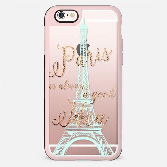 I LOVE PARIS transparent faux gold  for HTC One M8 by Monika Strigel - New Standard Case