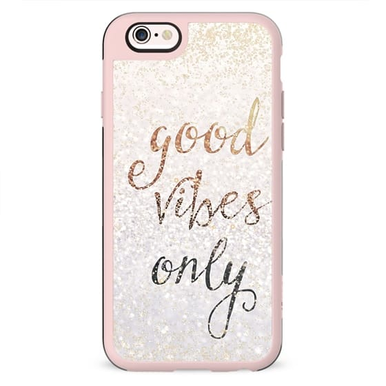 GOOD VIBES ONLY iPhone 5c by Monika Strigel