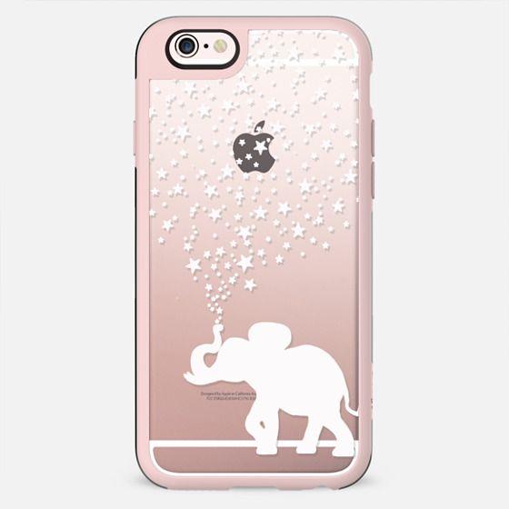 HAPPY ELEPHANT WHITE by Monika Strigel - New Standard Case