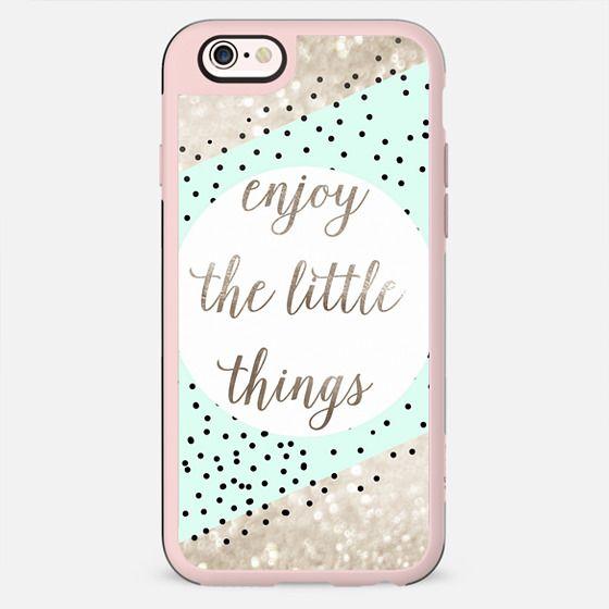 ENJOY THE LITTEL THINGS by Monika Strigel Faux Glitter iPhone 6 - New Standard Case