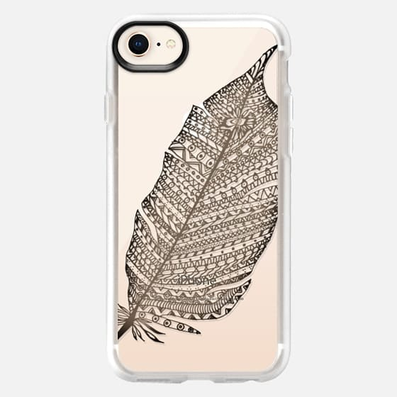 WOOD FEATHER iphone case - Snap Case