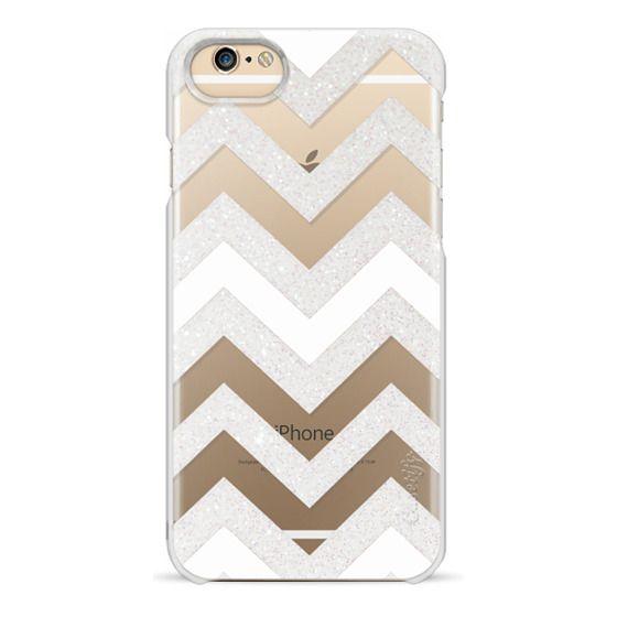 iPhone 6s Cases - SILVER CHEVRON WHITE iPhone6 Transparent Case