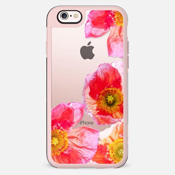 ALWAYS POPPIES by Monika Strigel Transparent iPhone 6 plus - New Standard Case