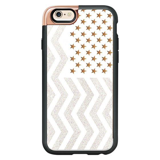iPhone 6s Cases - STARS & STRIPES METALUX by Monika STRIGEL
