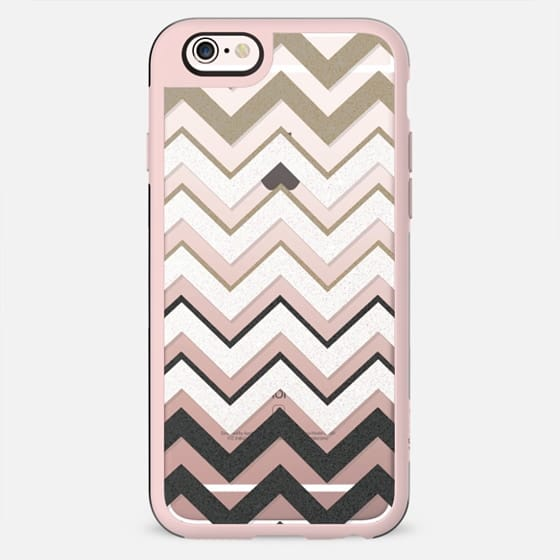 BLACK NUDE SILVER CHEVRON IV rev Crystal Clear iphone case - New Standard Case