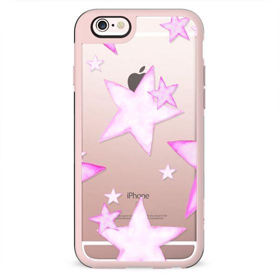 TIFFANY PINK STARS transparent iphone case