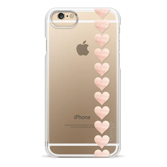 iPhone 6s Cases - ROSÈ HEARTS Transparent iPhone 6 by Monika Strigel