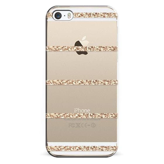 iPhone 6s Cases - GATSBY GOLD STRIPES Crystal Clear iphone case