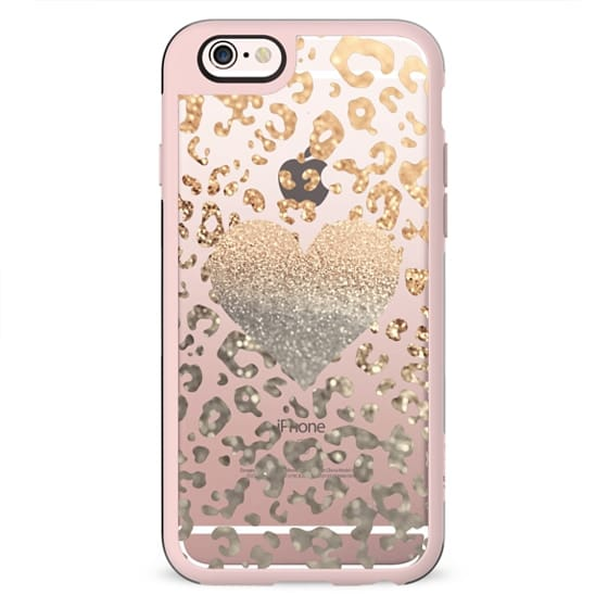 TIFFANY GOLD HEART LEO transparent for iPhone 5