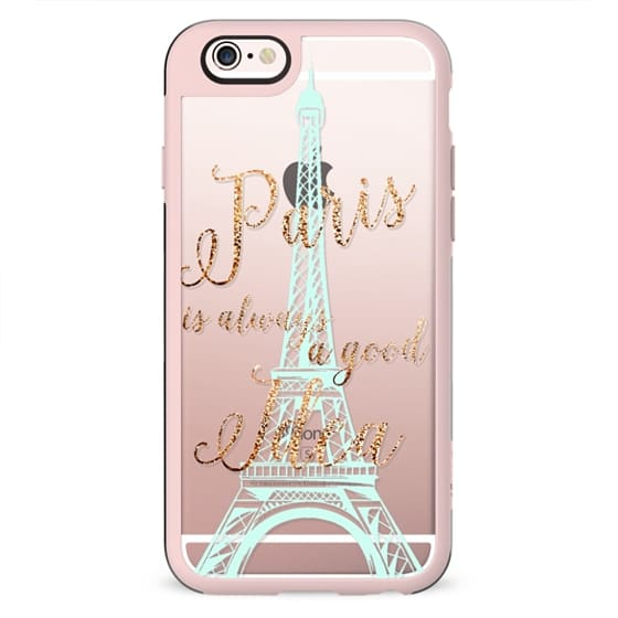 I LOVE PARIS transparent faux gold  for HTC One M8 by Monika Strigel