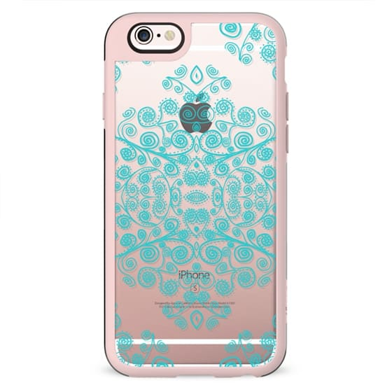 TURQUOISE AMBROSIA Crystal Clear iPhone Case
