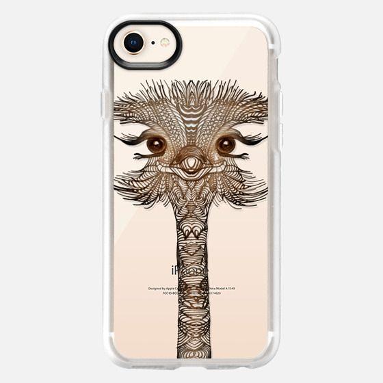 WOOD OSTRICH iphone case - Snap Case