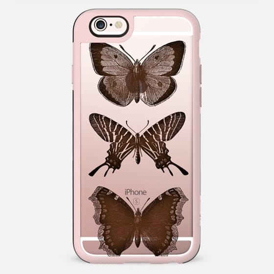 WOOD BUTTERFLY iphone case - New Standard Case