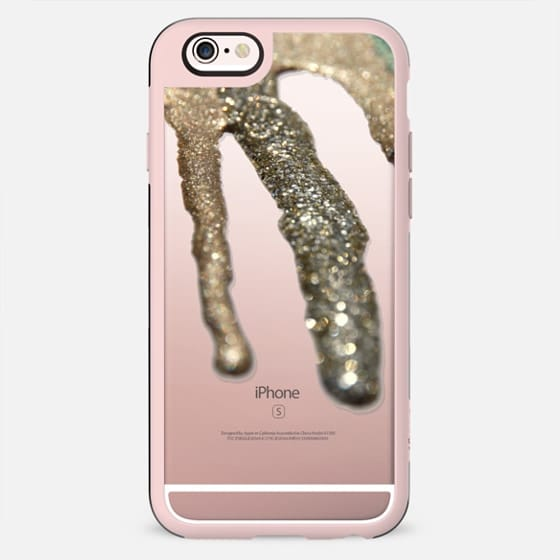 LIQUID GOLD Crystal Clear iPhone Case  -