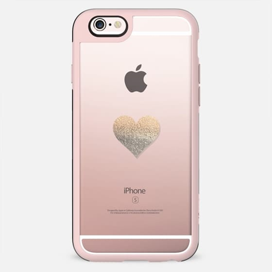 GOLD HEART iphone 5 Charcoal Transparent