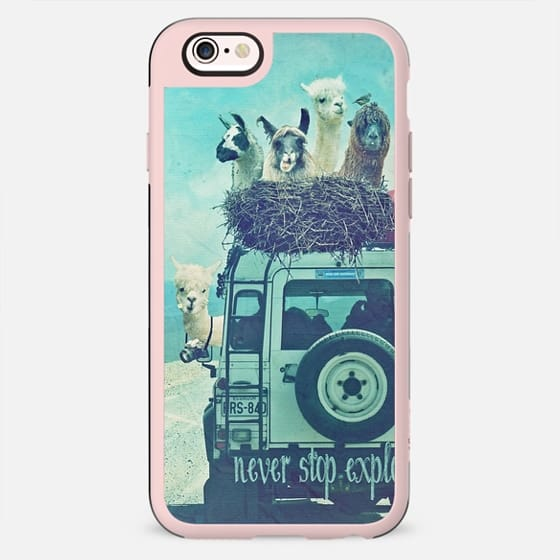 NEVER STOP EXPLORING II  by Monika Strigel - FUNNY LAMAS  - New Standard Case