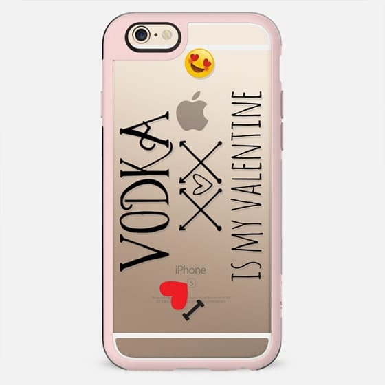 VODKA IS MY VALENTINE by Monika Strigel Valentines Collection - New Standard Case
