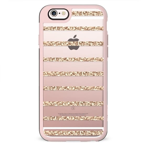 GATSBY GOLD GLITTER STRIPE PARTY Crystal Clear Transparent