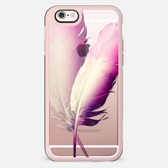 TWO FEATHERS by Monika Strigel Transparent Case - New Standard Case