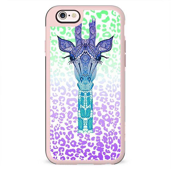 NEON GIRAFFE iphone case
