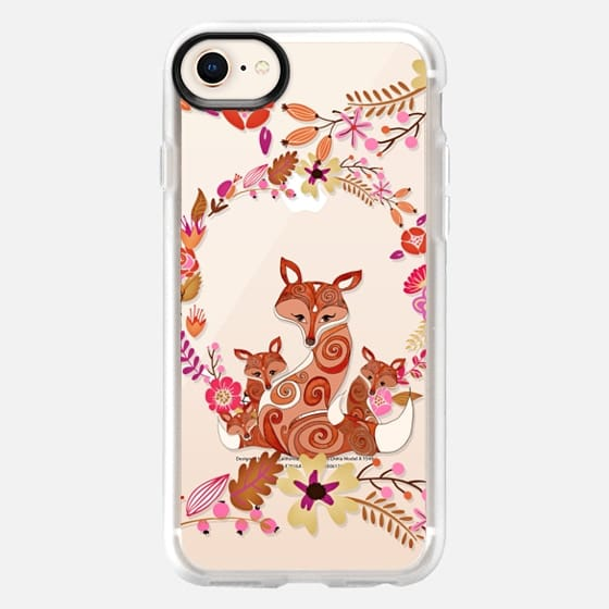 FOX & FLOWERS by Monika Strigel Crystal Clear iPhone 6 - Snap Case