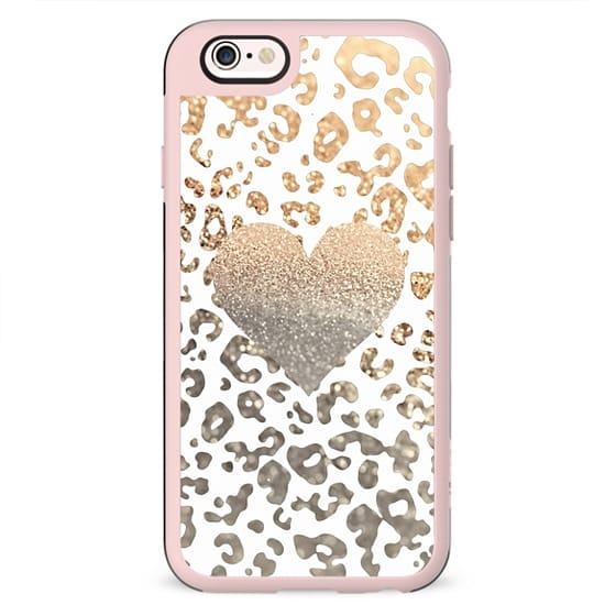 GOLD HEART LEOPARD iPhone 6 case