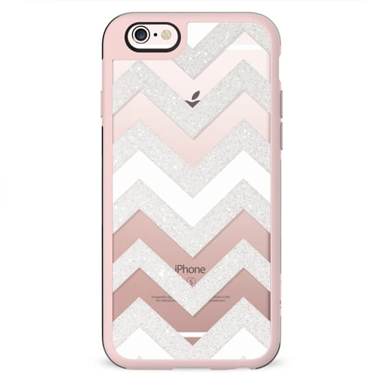 SILVER CHEVRON WHITE iPhone 6 plus Crystal Clear