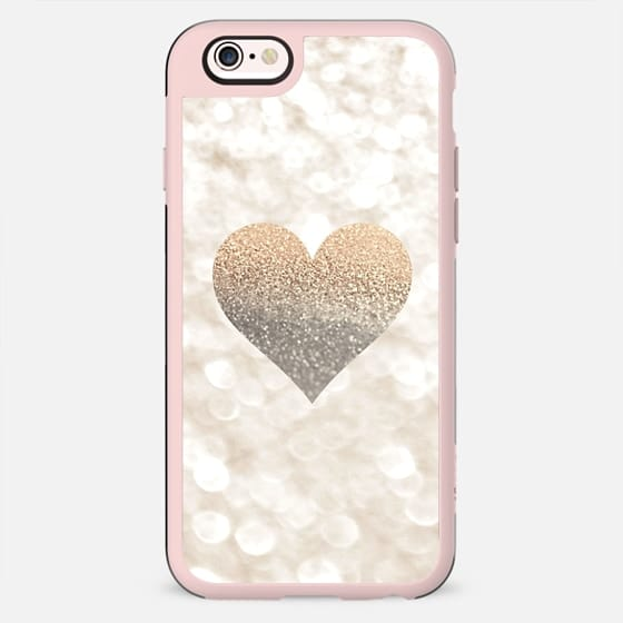 CHAMPAGNE HEART FAUX GLITTER by Monika Strigel