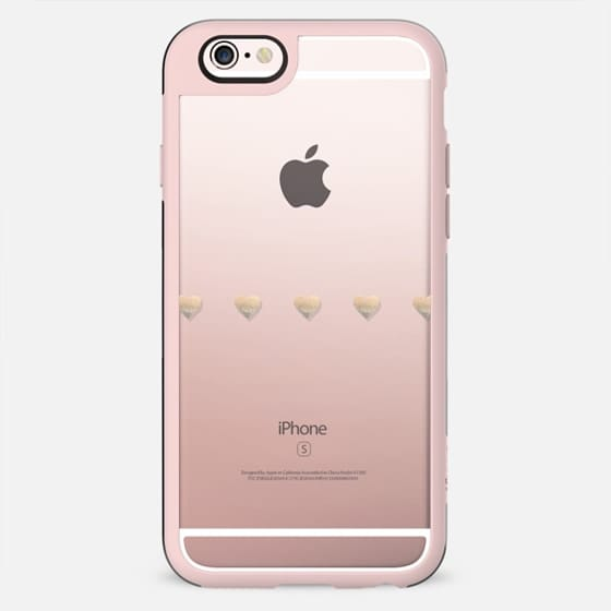 GATSBY GOLD LITTLE HEARTS & Hipster Black Transparent iphone Case