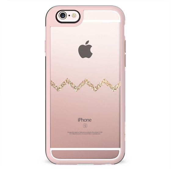 GOLD SINGLE CHEVRON iphone 6 TRANSPARENT CASE