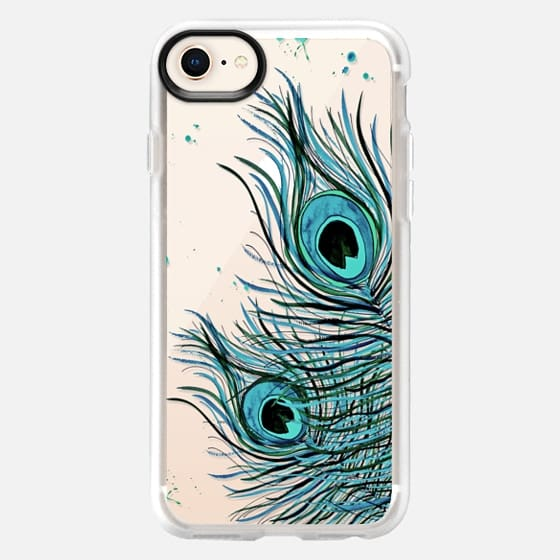 PEACOCK FEATHER iPhone 6 Crystal Clear Case - Snap Case