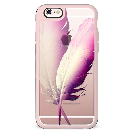 TWO FEATHERS by Monika Strigel Transparent Case