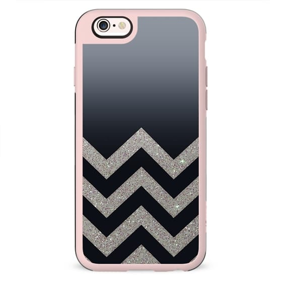 SILVER CHEVRON FADING GREY TO BLACK